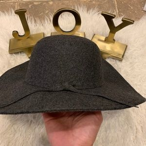 NWT Nordstrom Leith Charcoal Gray Floppy Felt Hat